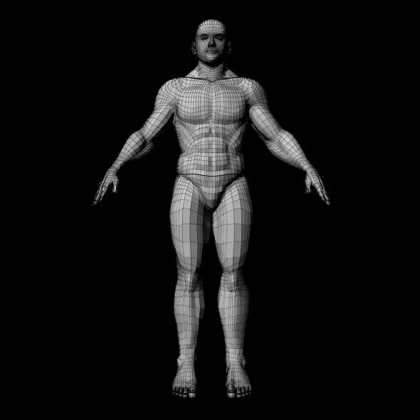 3DOcean Medium Poly Man 7396208