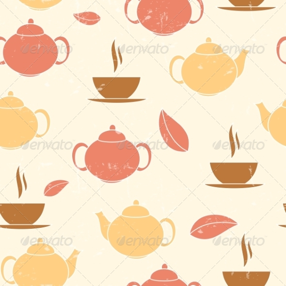 GraphicRiver Tea Seamless Pattern Background 7413543