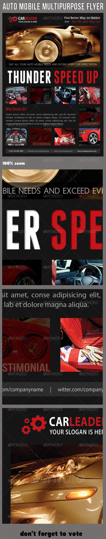 GraphicRiver Auto Mobile Multipurpose Flyer 02 7413954