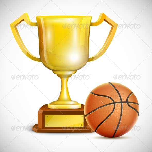 GraphicRiver Golden Trophy Cup with Basketball 7413963
