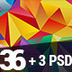 36 / Mega Set Flat Triangle Backgrounds - GraphicRiver Item for Sale