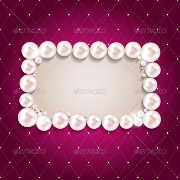GraphicRiver Pearl Frame Background 7414267