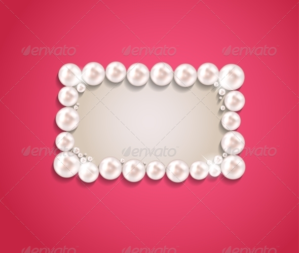 GraphicRiver Pearl Frame Background 7414480