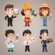 Professions Cartoon Characters Set1.1 - GraphicRiver Item for Sale