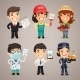 Professions Cartoon Characters Set1.4 - GraphicRiver Item for Sale