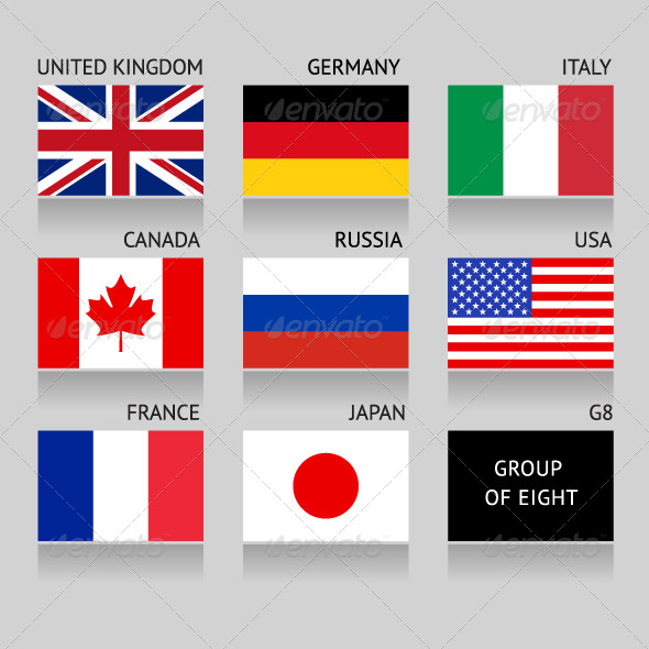 GraphicRiver Set of 8 Flags 7414705