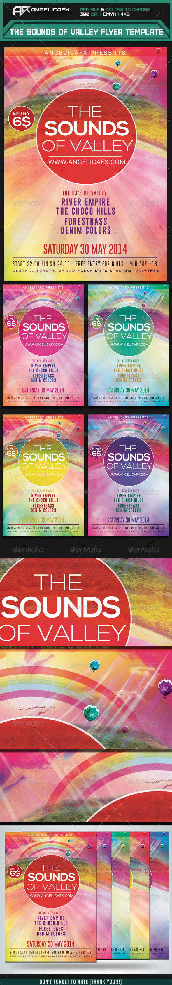 GraphicRiver The Sounds of Valley Flyer Template 7414994