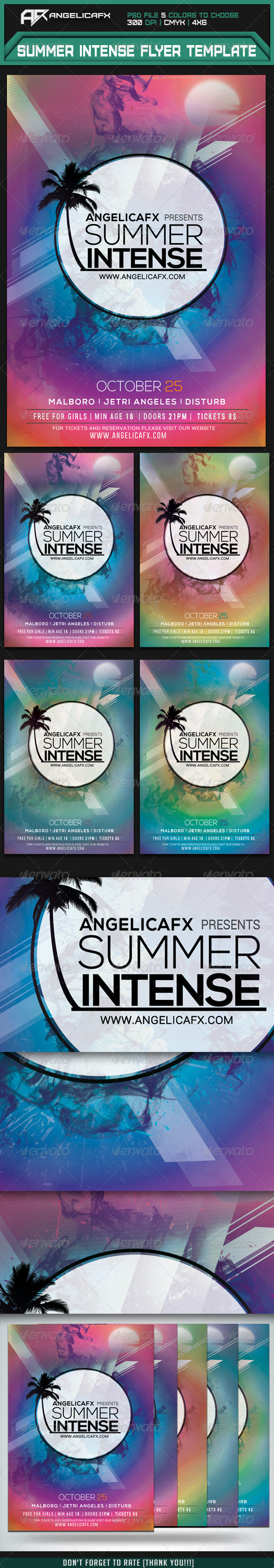 GraphicRiver Summer Intense Flyer Template 7415213