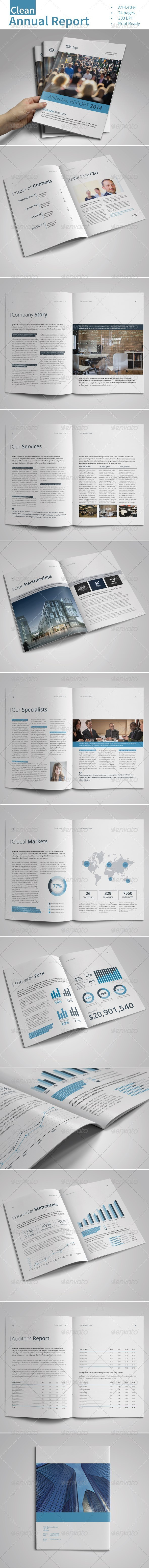 GraphicRiver Clean Annual Report Vol.1 7415225