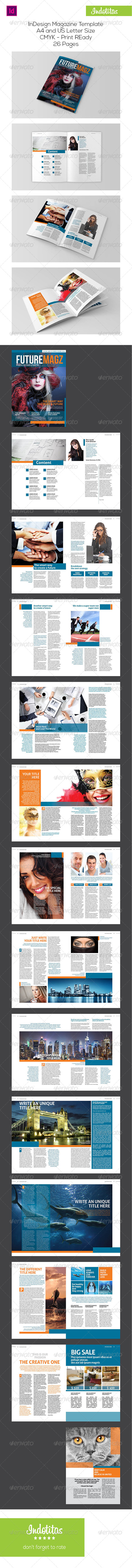 GraphicRiver InDesign Magazine Template 7396286