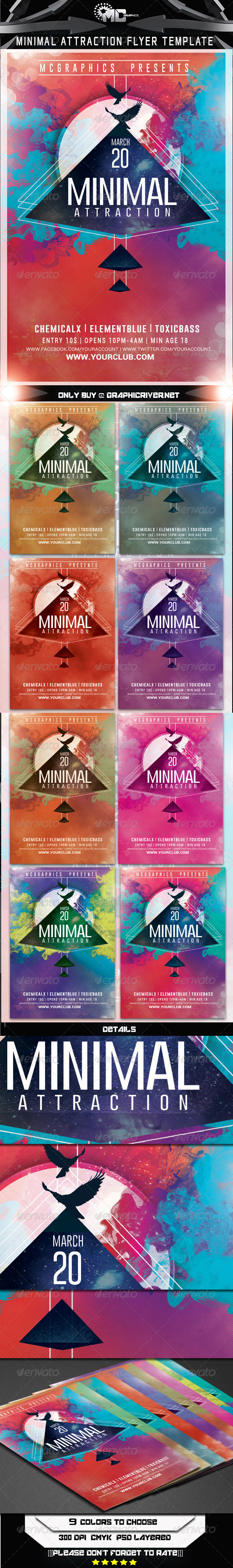 GraphicRiver Minimal Attraction Flyer Template 7415410
