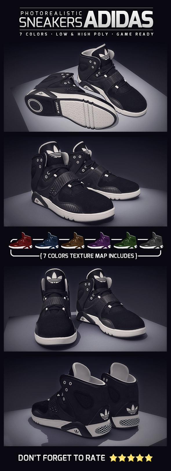 3DOcean Sneakers Adidas Photorealistic 7377548