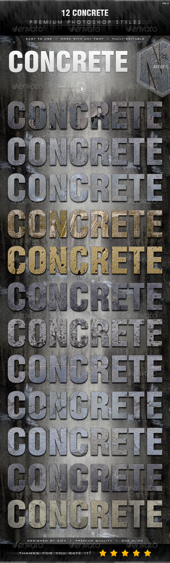 GraphicRiver 12 Concrete Styles Vol.4 7415787
