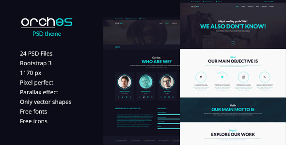 ThemeForest Orches PSD Theme 7354397