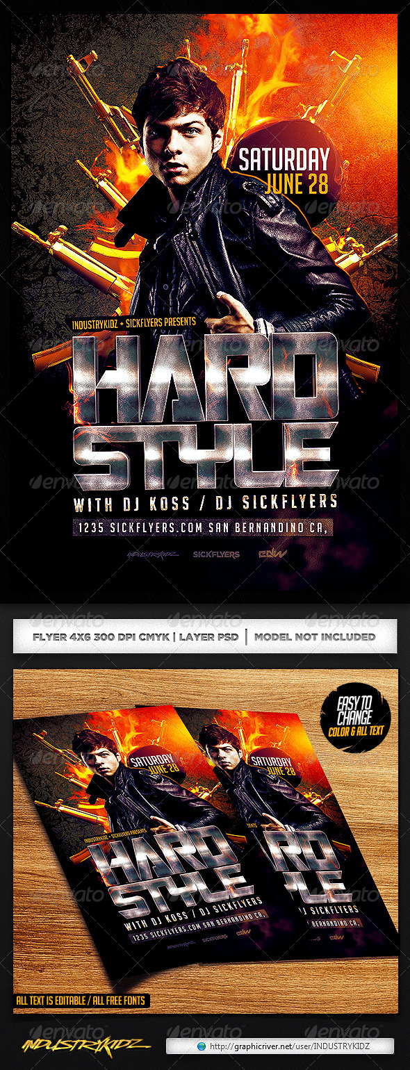 GraphicRiver Hardstyle Flyer Template PSD 7415891