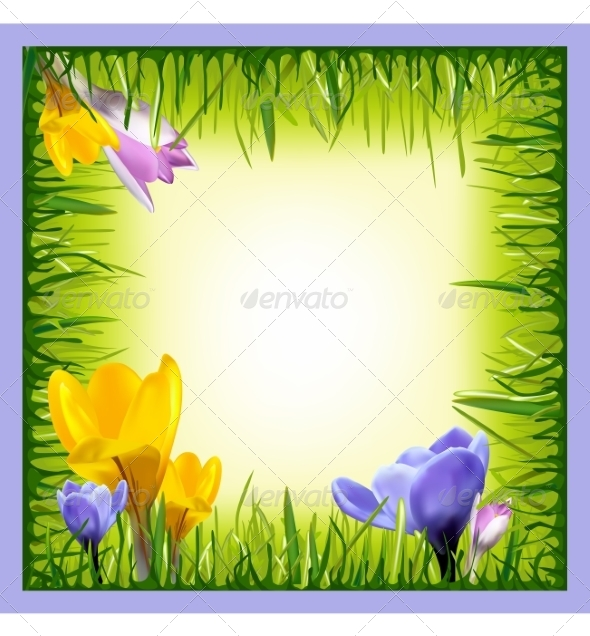 GraphicRiver Background with Realistic Flower and Grass 7415925