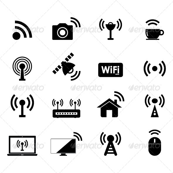 GraphicRiver Wireless and Wifi Icon 7415966