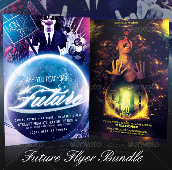GraphicRiver Future Flyer Bundle 7400277