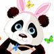 Panda with Easter Basket - GraphicRiver Item for Sale