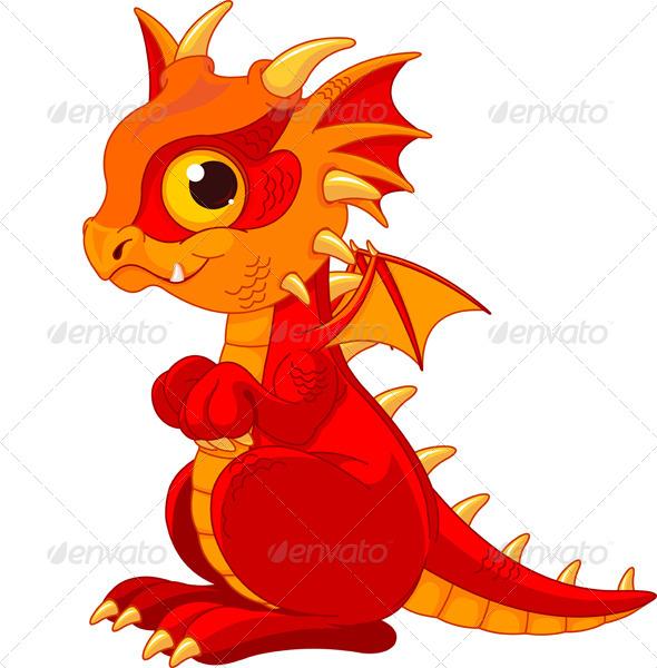 GraphicRiver Baby Dragon 7416064