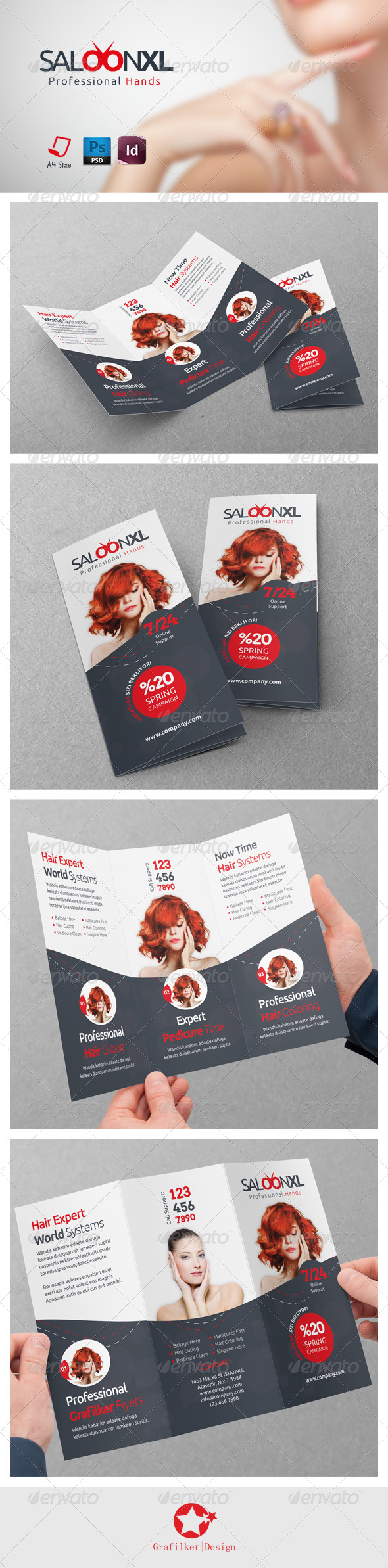 GraphicRiver Beauty Saloon Tri-Fold Templates 7416150