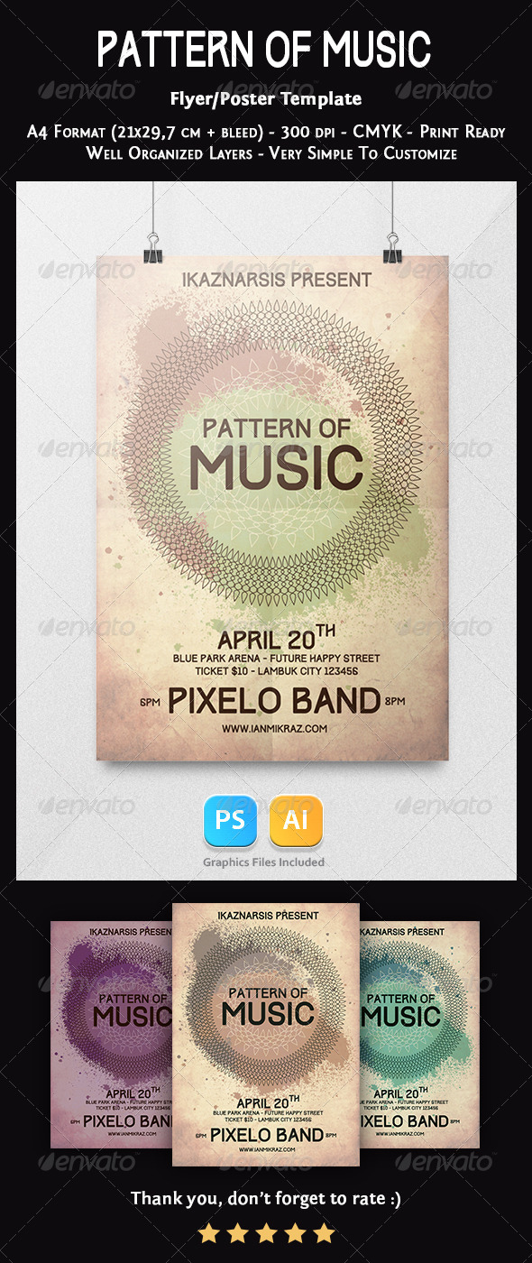 GraphicRiver Pattern of Music Flyer Template 7416216