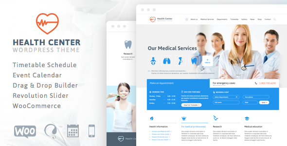 ThemeForest Health Center Responsive Medical Theme 7322125