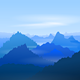 Majestic Blue Mountains - GraphicRiver Item for Sale