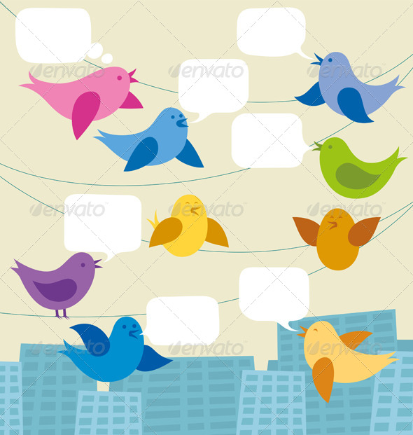 GraphicRiver Card with Birds 7416465