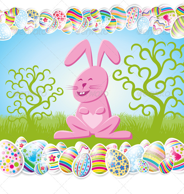 GraphicRiver Easter Card 7416514