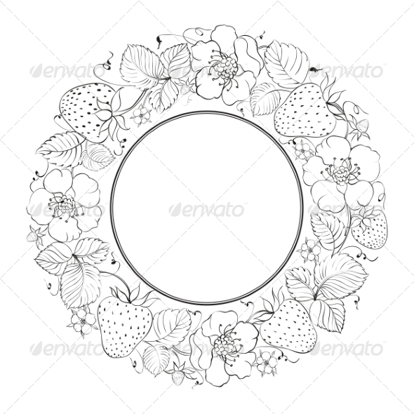 GraphicRiver Strawberries in a Circle 7416735