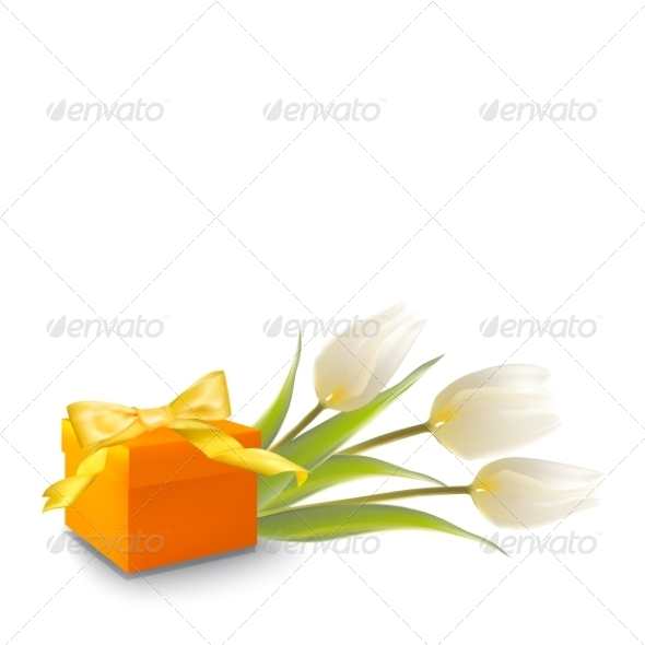 GraphicRiver Tulips and Gift Box 7416842