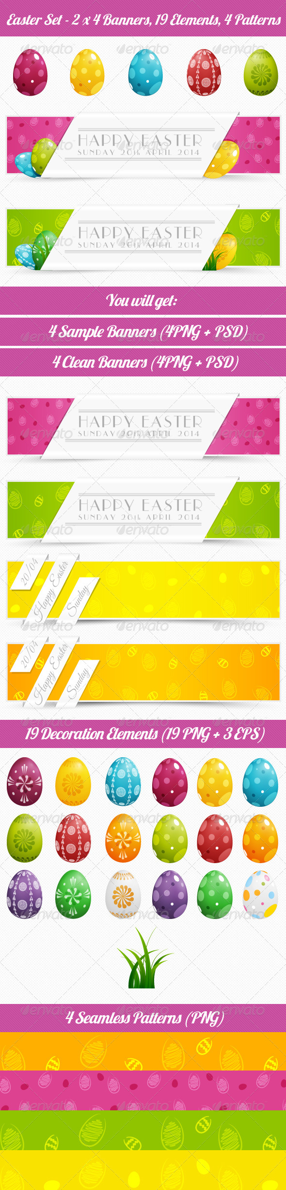 GraphicRiver Easter Set 7402036