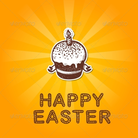 GraphicRiver Easter Card Concept 7416850