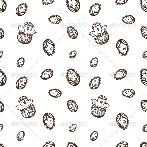 GraphicRiver Seamless Easter Pattern 7417071