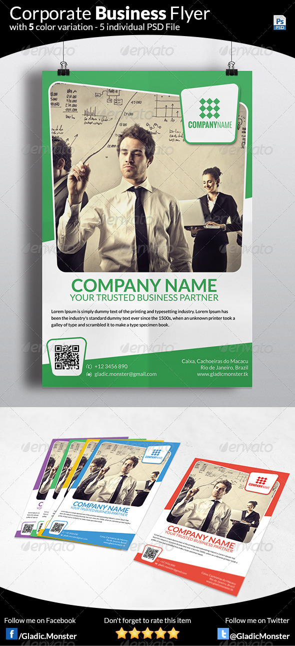 GraphicRiver Corporate Business Flyer 7326218