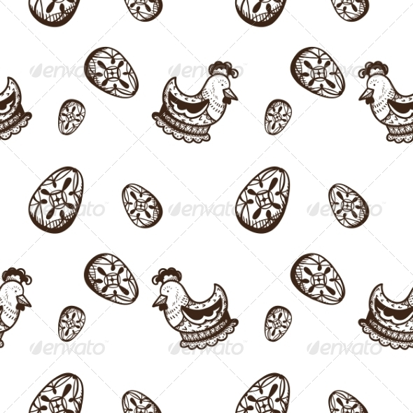 GraphicRiver Seamless Easter Pattern 7417074