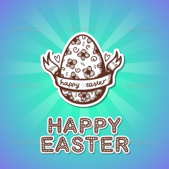 GraphicRiver Easter Card Concept 7417081