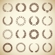 Collection of Vintage Laurel Wreaths - GraphicRiver Item for Sale