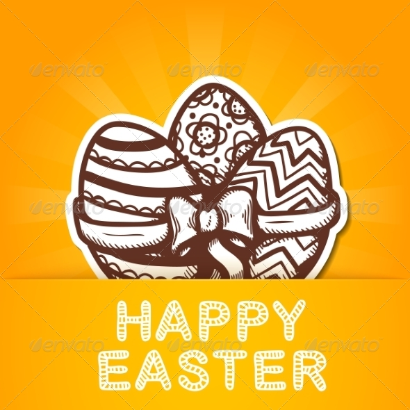 GraphicRiver Easter Card Concept 7417087