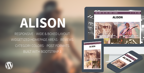 ThemeForest Alison Responsive WordPress News Theme 7365900