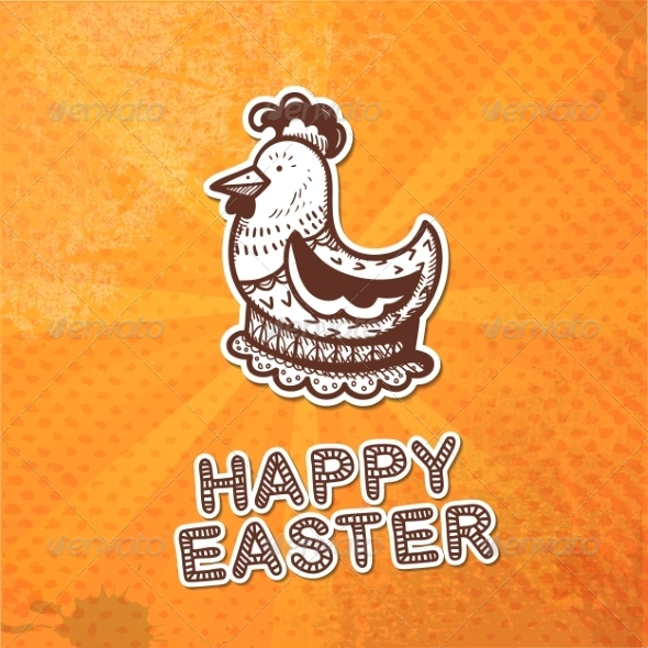 GraphicRiver Easter Card Concept 7417111