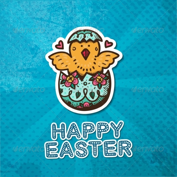 GraphicRiver Easter Card Concept 7417115