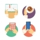 Set of Business Hands Icons Showing Actions - GraphicRiver Item for Sale