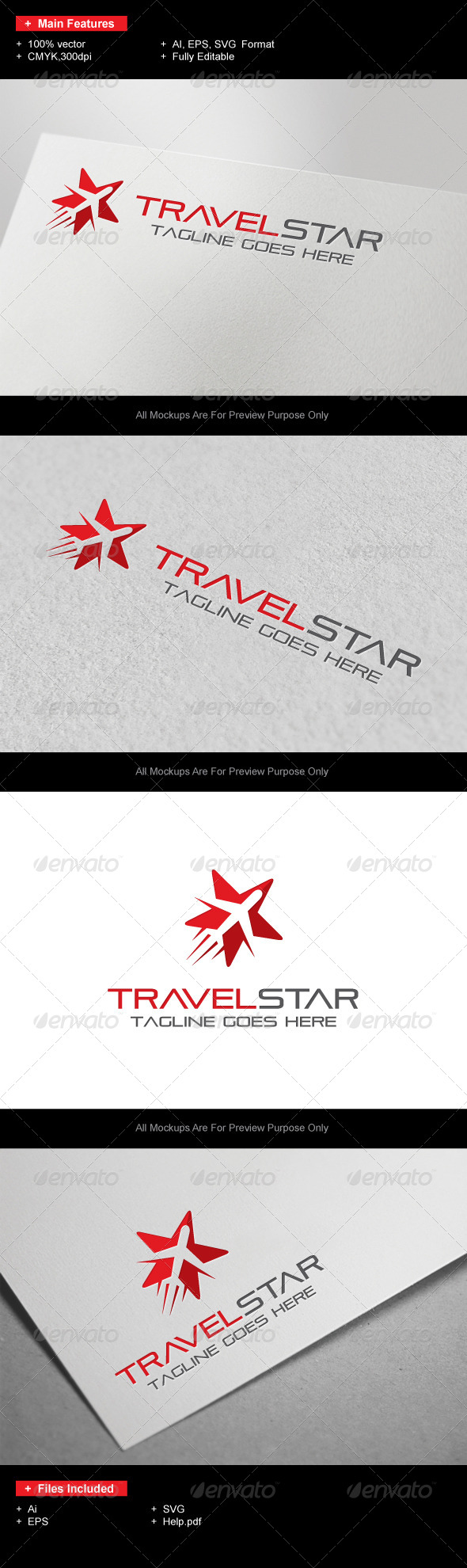 GraphicRiver TravelStar logo 7417187