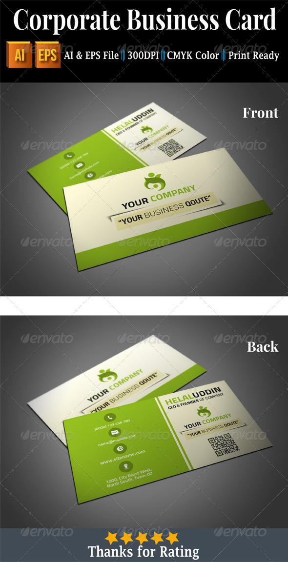 GraphicRiver Corporate Business Card 7417240
