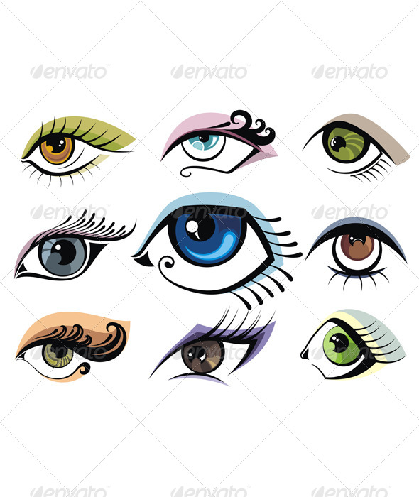 GraphicRiver Collection of Eye Icons 7417264