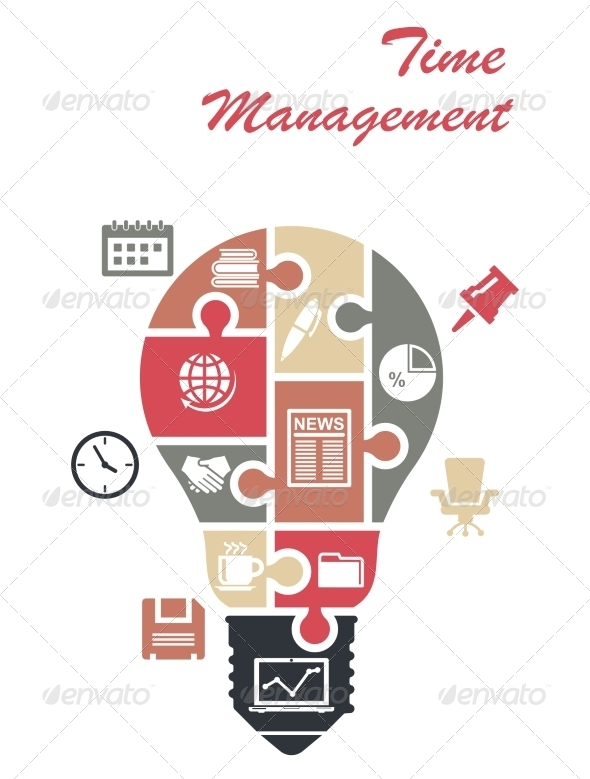 GraphicRiver Time Management Infographics Concept 7417270