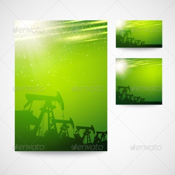 GraphicRiver Pump Jack Oil Crane 7417437