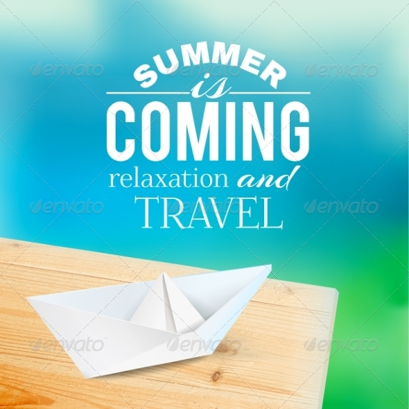 GraphicRiver Summer Background with Text 7417450